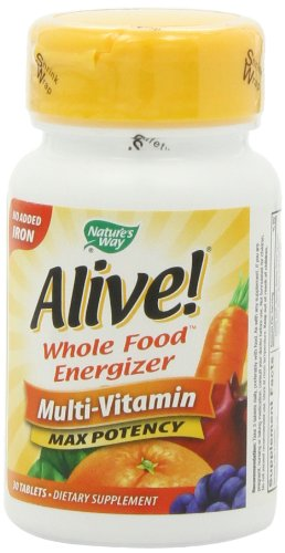 Alive Max Potency (No Iron Added) Multivitamin, 30 Tablets