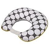 Lunares/Pin Rayas Gris/Amarillo Funda de almohada de lactancia