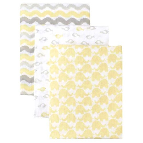 Safe Sleep 3Pk Muslin Swaddle Blanket - Yellow Combo