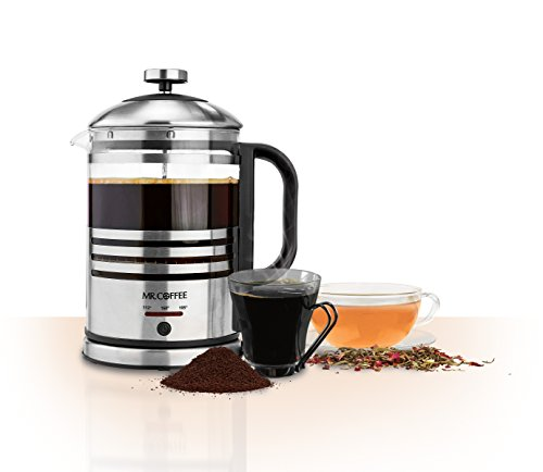 Electric French Press Coffee Maker Reviews : Mr. Coffee BVMC-FPK33 2-n-1 Electric French Press and Hot Water Kettle made by Jarden Consumer ...