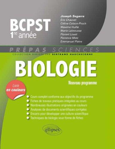 Biologie BCPST 1ère Année Programme 2013 Livre en Couleurs