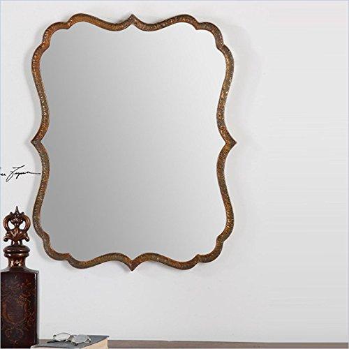 Uttermost Spadola Oxidized Copper 30-Inch Bathroom Mirror front-20284