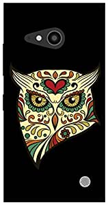 The Racoon Grip angry owl hard plastic printed back case / cover for Nokia Lumia 730