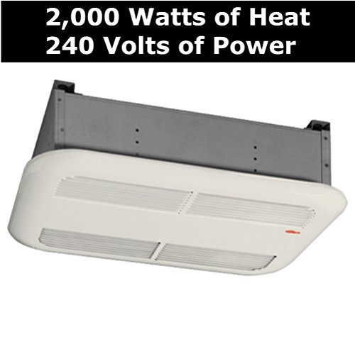 Bathroom Ceiling Heater Solutions - The Stelpro Sk1501A- Almond Quiet & Powerful 1,500 Watts & Runs On 120 Volts. It Can Heat Up To 150 Sq. Feet It Has An Attractive Rounded Edge Metal Cover, When Looking For More Bathroom Heating Options
