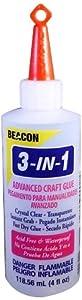 Beacon 3-In-1 Advanced Craft Glue, 4-Ounce