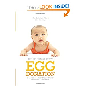The Insider's Guide to Egg Donation: A Compassionate and Comprehensive Guide for All Parents-to-Be, by Wendie Wilson-Miller and Erika Napoletano. Publisher: Demos Health; 1 edition (May 15, 2012)