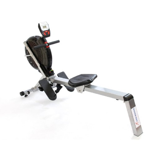 Gym Master Air Resistance Rowing Machine with Performance Monitor