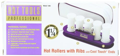 Hot Tools Professional HT1305 Hot Rollers with Ribs and Cool Touch Ends, 1.25 Inches