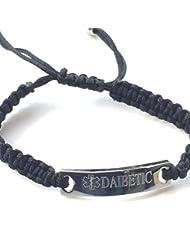 Diabetic Medical Alert 'Demeter' Rope ID Bracelet + 59mm Badge (T33)