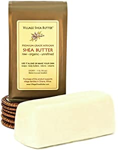 Village Shea Butter - Raw Organic Unrefined - 1 lb