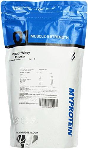 Myprotein Impact Whey Protein Cookies und Cream, 1er Pack (1 x 1 kg)