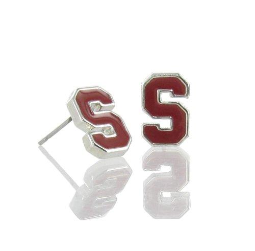 Officially Licensed Stanford University Mini Red Enamel Post Earrings