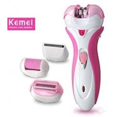 4 In 1 Rechargeable Dry & Wet Kemei Hair Shaver & Epilator For Women KM-2531