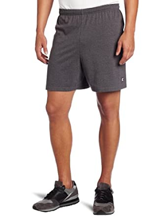 Champion Mens Jersey Short, Granite Heather, Small