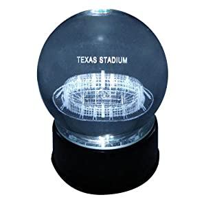 Dallas Cowboys Texas Stadium Laser-Etched Musical Lit Crystal Ball by Sports Collector