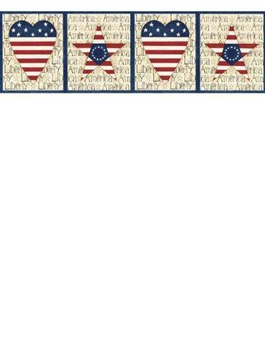 3D Wallpaper HD  American Flag Border Pattern