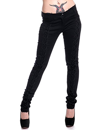 Vixxsin -  Pantaloni  - Donna nero X-Large