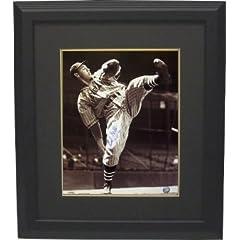 Bob Feller signed Cleveland Indians 16x20 Photo HOF62 Custom Framed