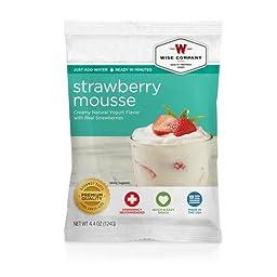 Dessert Dish - Strawberry Mousse, 4 Servings