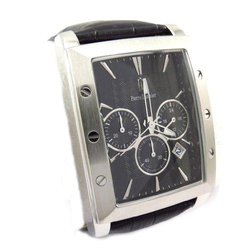 Reloj de pulsera para los hombres 'Pierre Lannier' acero impermeable negro (mpt).