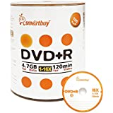 Smart Buy 100 Pack DVD R 4.7gb 16x Logo Blank Data Video Movie Recordable Disc 100 Disc 100pk