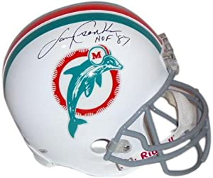 Larry Csonka Miami Dolphins Autographed Riddell Replica Throwback Helmet with HOF 87... by Sports Memorabilia