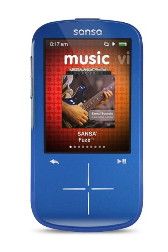 SanDisk Sansa Fuze+ 4 GB MP3 Player (Blue)