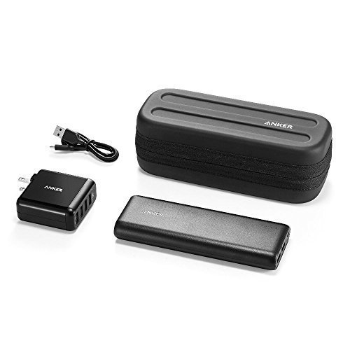 [Anker Power Combo] PowerCore 20100 and PowerPort 4, Ultra-High-Capacity, Compact Size Portable Charger and High-Speed Multiport USB Charger with Protective Custom Carry Case (Iphone 4 Case Combo Pack compare prices)