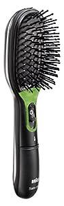 Braun - Cepillo de pelo Satin Hair Brush BR730 con tecnología iónica IONTEC y funda protectora
