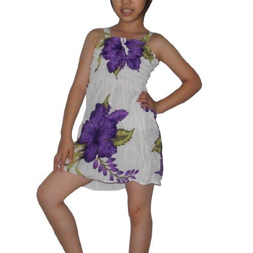 Girls Thai Exotic Gathered / Smocked Bodice Crinkle Sleeveless Summer Tank Dress - Size:5
