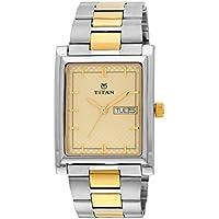 Titan Karishma Champagne Dial Men's Analog Watch - 90024BM02