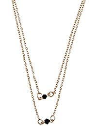 Style Fiesta Women's Black Bead Necklace