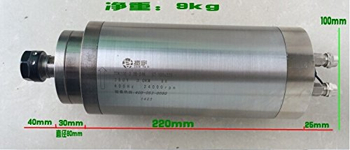 Engraving Machine Spindle Motor High-Speed Water-Cooled Electric Spindle 3 Kw & 220V/380V