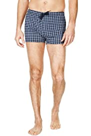 Blue Harbour Checked Swim Shorts [T28-7340B-S]|F20F