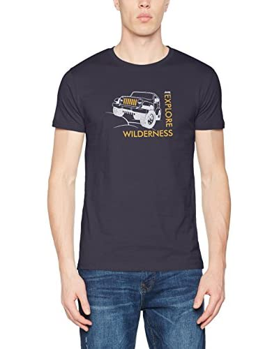 Jeep T-Shirt Manica Corta Willys-Explore Wilderness J7S [Blu Scuro]