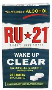 RU-21 Hangover Prevention Tablets (20 x RU-21 Tablets)