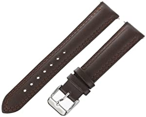 Voguestrap TX41718BN Allstrap 18mm Brown Regular-Length Distressed Leather Watchband