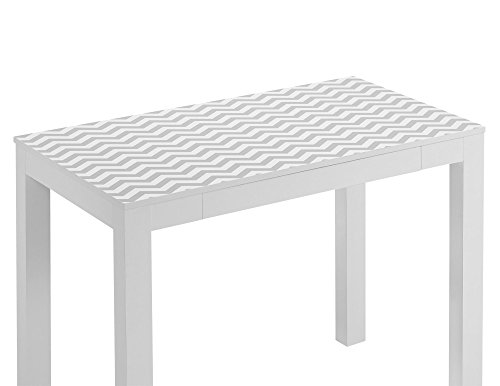 Altra Parsons Desk With Drawer White Gray Chevron