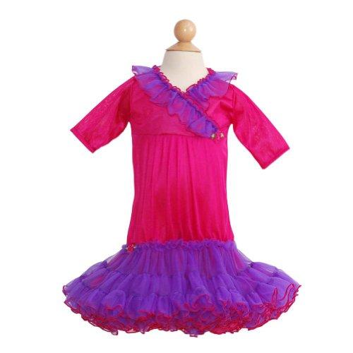 Laura Dare Fuchsia Purple Petticoat Nightgown Baby Girls Newborn front-1040081