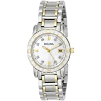 Bulova Women's Diamond Accented Two-Tone Stainless Steel Watch