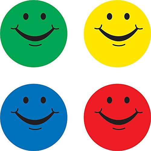 Creative Teaching Press Smiling Faces Hot Spots Stickers (7172) - 1