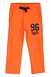 Chalk by Pantaloons Boy's Regular Fit Track Pant(205000005608258, Orange, 3-4 Years)