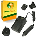 PowerPlanet Panasonic CGA-S/106C, DMW-BCF10E, DMW-BCF10PP Fast 1-2hr LCD Battery Travel (UK, Europe, USA Mains/Car) Charger for PANASONIC Lumix DMC-FS12, DMC-FS15, DMC-FS25, DMC-FS30, DMC-FS33, DMC-FS42, DMC-FS62