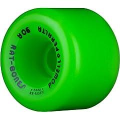 Buy Powell-Peralta Rat Bones 60mm 90A Green Skateboard Wheels (Set of 4) by Powell-Peralta