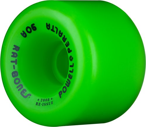 "Powell-Peralta ""Rat Bones"" 60mm 90A Green Skateboard Wheels (Set of 4)"