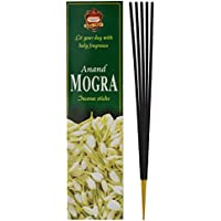 ANAND Mogra Charcoal & Bamboo Incense Sticks (22.86 Cm, 100 G, Black, Pack Of 1)