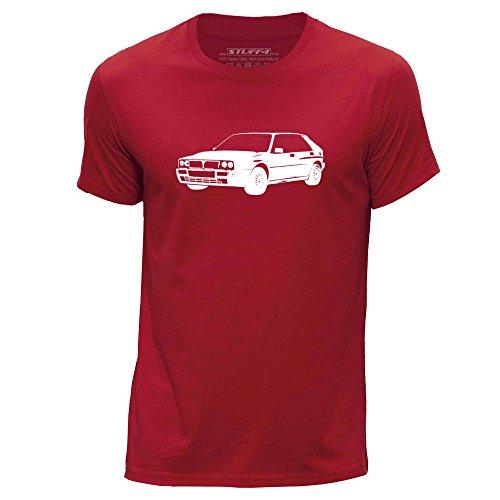 stuff4-mens-large-l-red-round-neck-t-shirt-stencil-car-art-delta-hf-16v