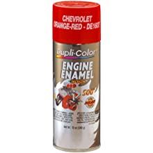 Dupli-Color DE1607 Ceramic Chevrolet Orange-Red Engine Paint - 12 oz.