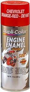 Dupli-Color DE1607 Ceramic Chevrolet Orange-Red Engine Paint - 12 oz.