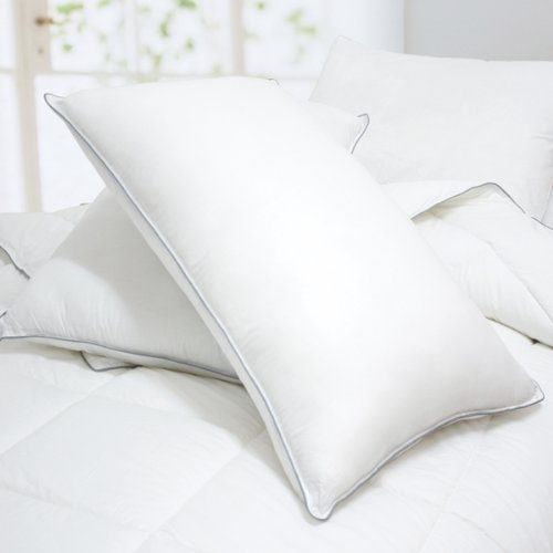 Blancho Bedding - Set of 2 Luxurious Down Alternative Standard Pillow, 35.5 OZ, Piped Edging